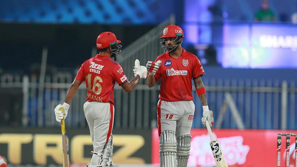 KLRahul with Mayank Agarwal.