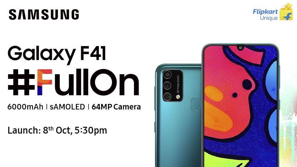 The feature-packed Galaxy F41, with its best-in-class user experience is going to be a game-changer in the industry.