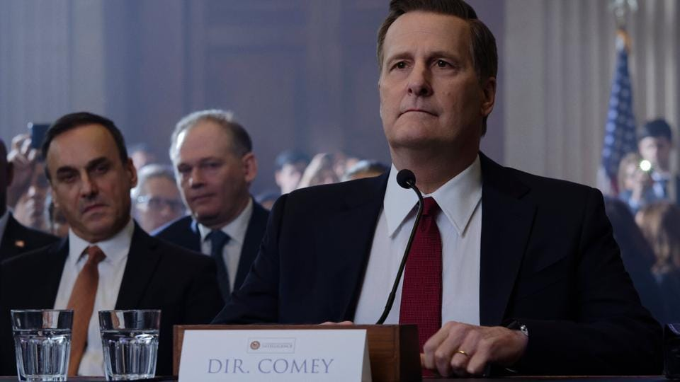 Jeff Daniels as James Comey, in a still from The Comey Rule.