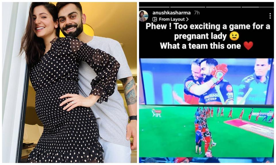 Anushka Sharma took to Instagram stories to congratulate Virat Kohli and the Royal Challengers Bangalore on their win against the Mumbai Indians.