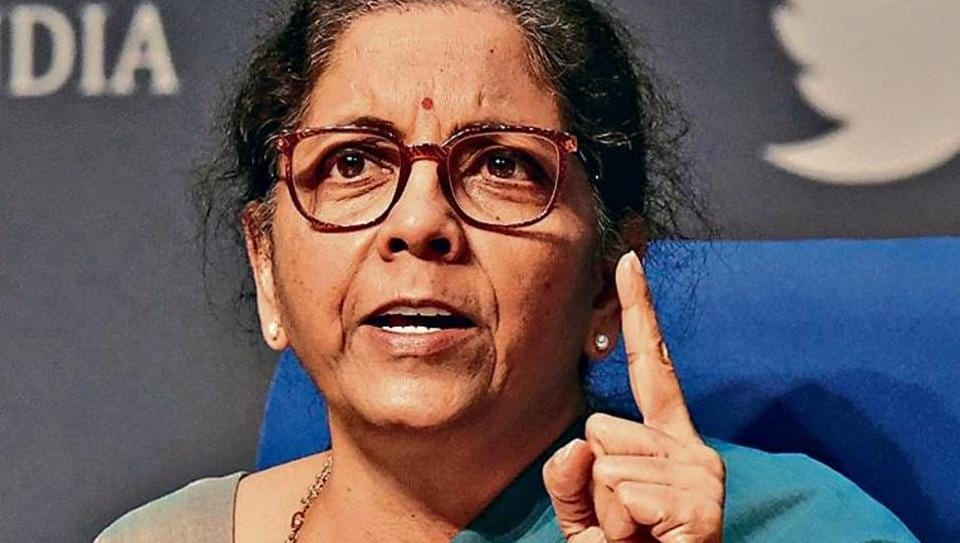 Finance minister Nirmala Sitharaman during the fifth and final briefing on Centre's economic stimulus package on May 17, 2020.