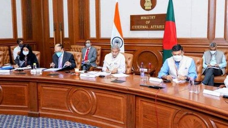The virtual meeting of the Joint Consultative Commission (JCC) was co-chaired by external affairs minister S Jaishankar and his Bangladeshi counterpart AK Abdul Momen.