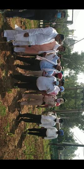 STF chief Satguru Uday Singh and MC commissioner Pardeep Sabharwal during a visit to a green belt established alongside the Buddha Nullah in Ludhiana on Tuesday.