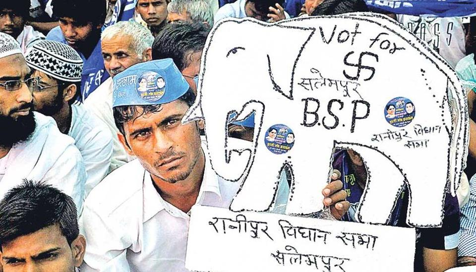 The BSPis contesting all eight assembly seats in thb bypolls in Uttar Pradesh.