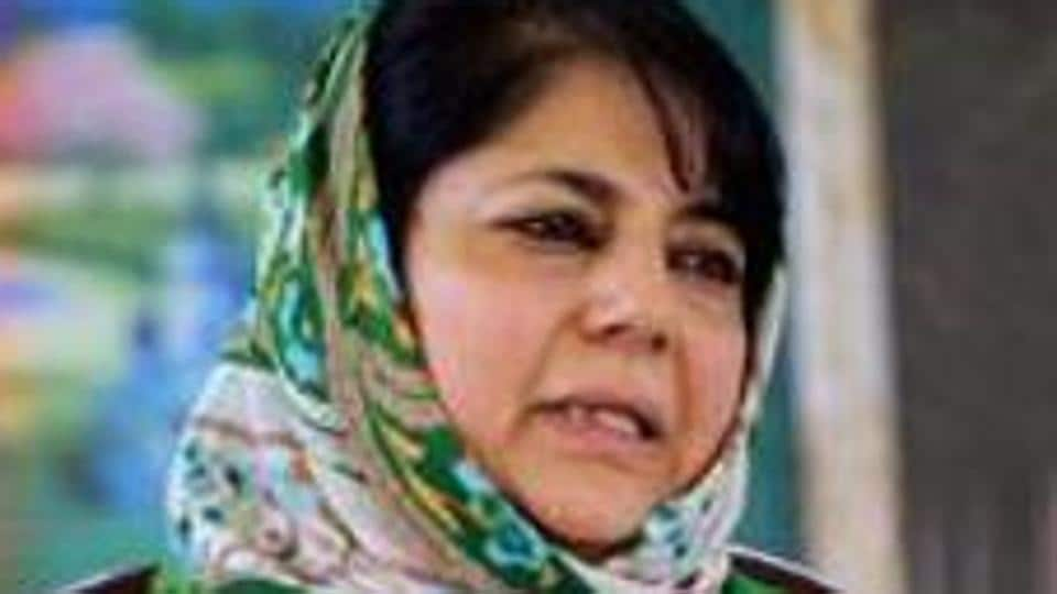 File photo of Peoples Deomocratic Party (PDP) president Mehbooba Mufti.