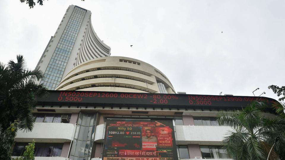 Mumbai: BSE building as the Sensex plunges by more than 1000 points, in Mumbai, Thursday, Sept. 24, 2020. (PTI Photo/Mitesh Bhuvad)(PTI24-09-2020_000085B)