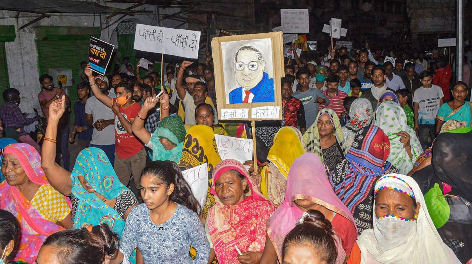 The gang rape of a dalit woman in Hathras and her death sparked protests in different parts of the country on Wednesday.