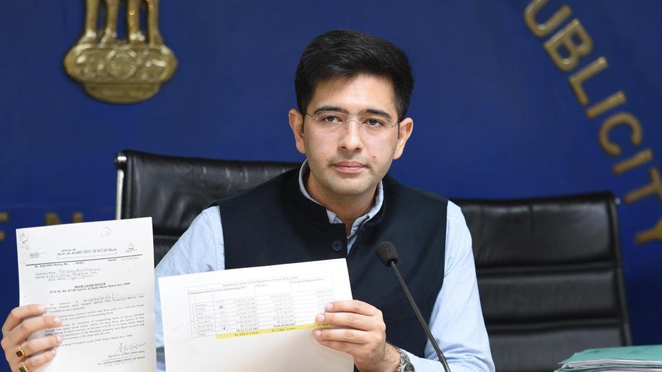 Delhi Jal Board vice-chairman Raghav Chadha.