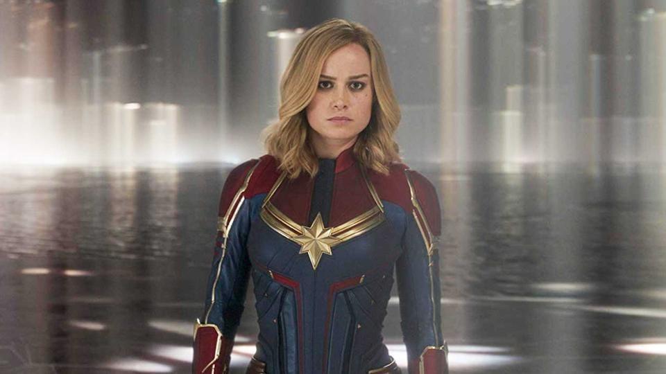 Brie Larson as Carol Danvers in a still from Captain Marvel.