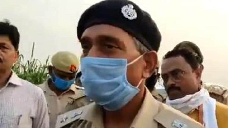 Superintendent of police, Bhadohi, Rambadan Singh, who inspected the spot, said a case had been registered against unidentified assailants under relevant sections of the Indian Penal Code (IPC). (Photo @bhadohipolice)