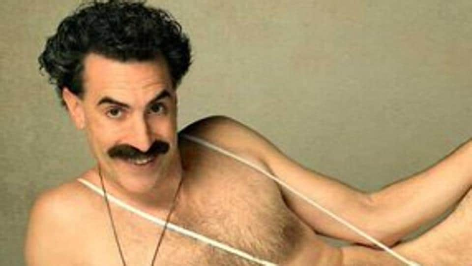 Sacha Baron Cohen in the first poster for Borat 2.