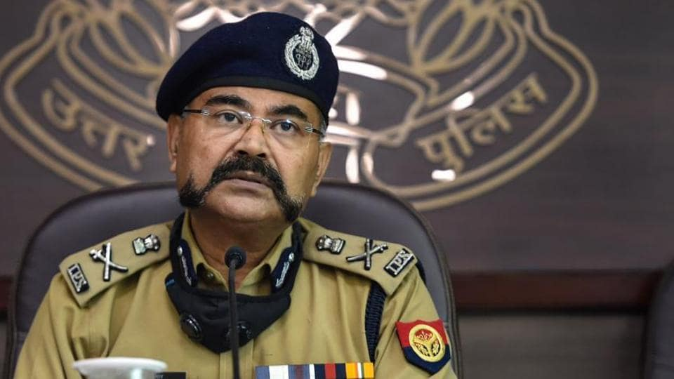 UP ADG (Law and order) Prashant Kumar addresses a press conference. He said that the forensic examination of the Hathras victim revealed that there was no rape though experts say that there were lapses in medical examination of the victim.