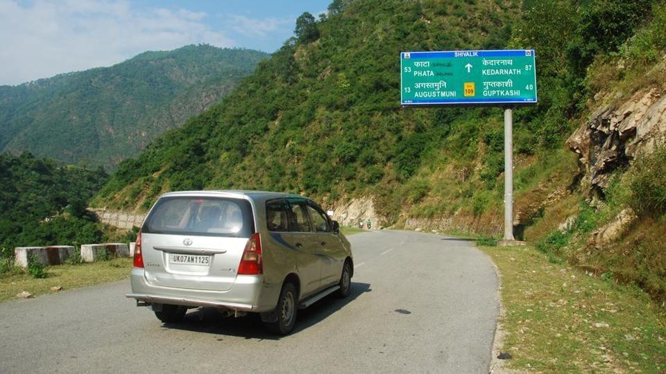 Aroad leading to Char Dham in Uttarakhand.