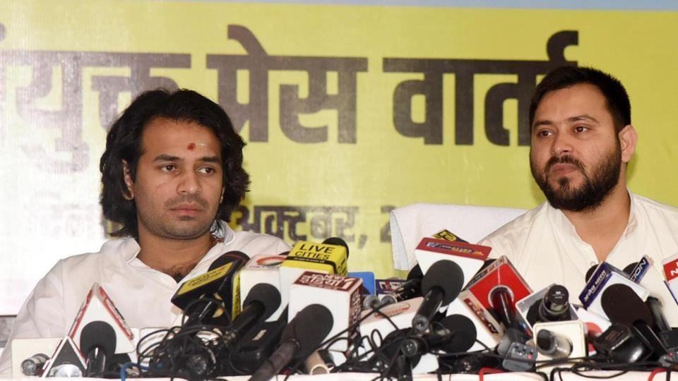 RJD leaders Tejashwi Yadav and Tej Pratap are among 6 people named in an FIRfor the murder of a former party leader in Purnia.