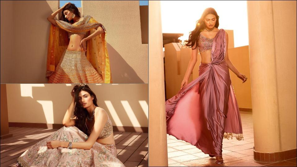Athiya Shetty gives ethnic wear a sexy spin as she plays the millennial bride