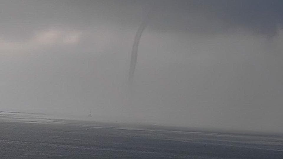 Waterspout spotted near Marine Drive.