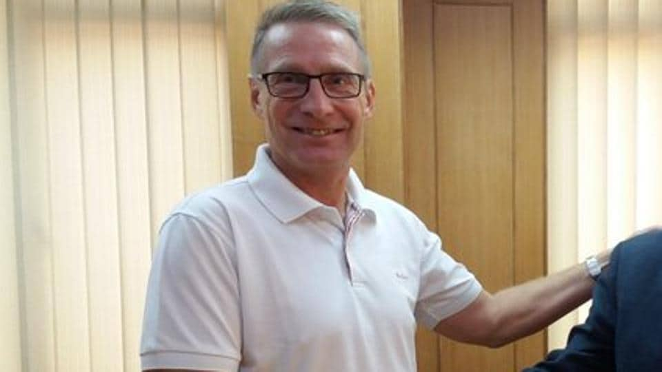 Thomas Dennerby, head coach of the India women's U-17 football team.