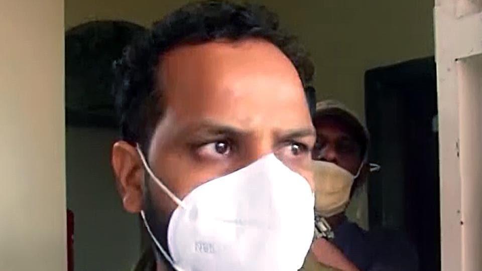 Bineesh Kodiyeri, son of CPI(M) leader Kodiyeri Balakrishnan reaches Enforcement Directorate (File Photo/ANI)