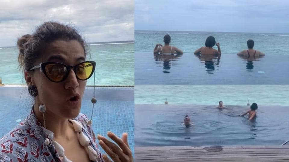 Taapsee Pannu has shared several glimpses of her Maldives holiday.