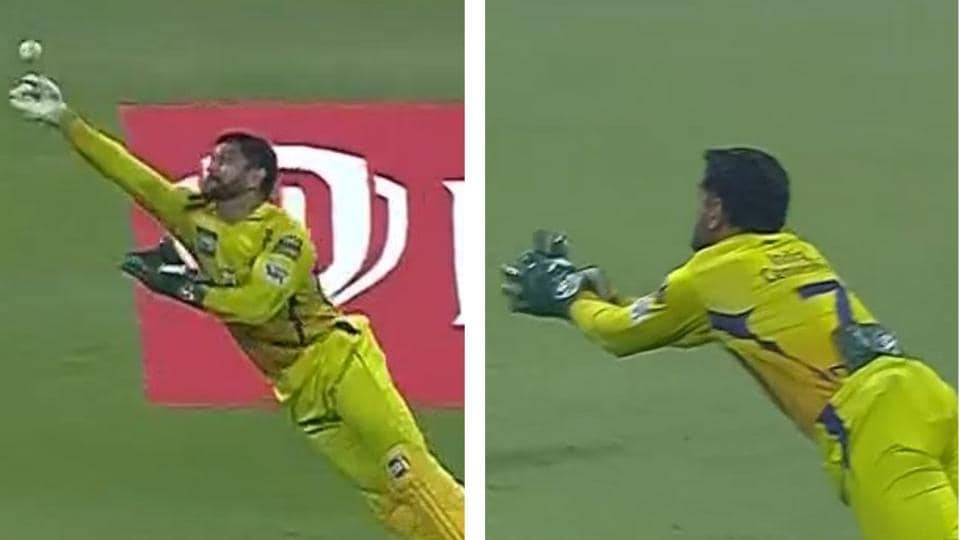 IPL 2020: MS Dhoni fists ball with bare hands, then dives to take spectacular catch to break IPL re... - Hindustan Times