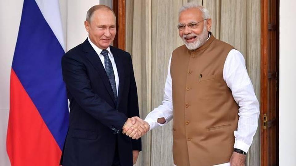 Prime Minister Narendra Modi and Russian President Vladimir Putin.