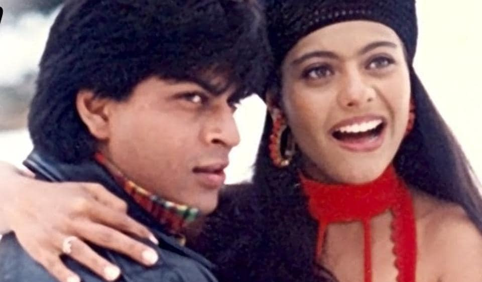 Shah Rukh Khan and Kajol in Dilwale Dulhania Le Jayenge.