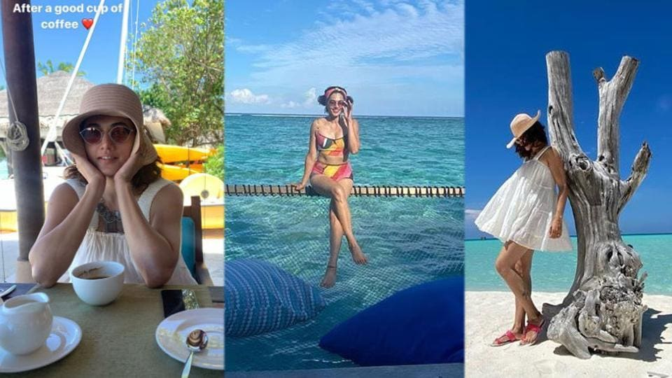 Taapsee Pannu is enjoying her time in Maldives.