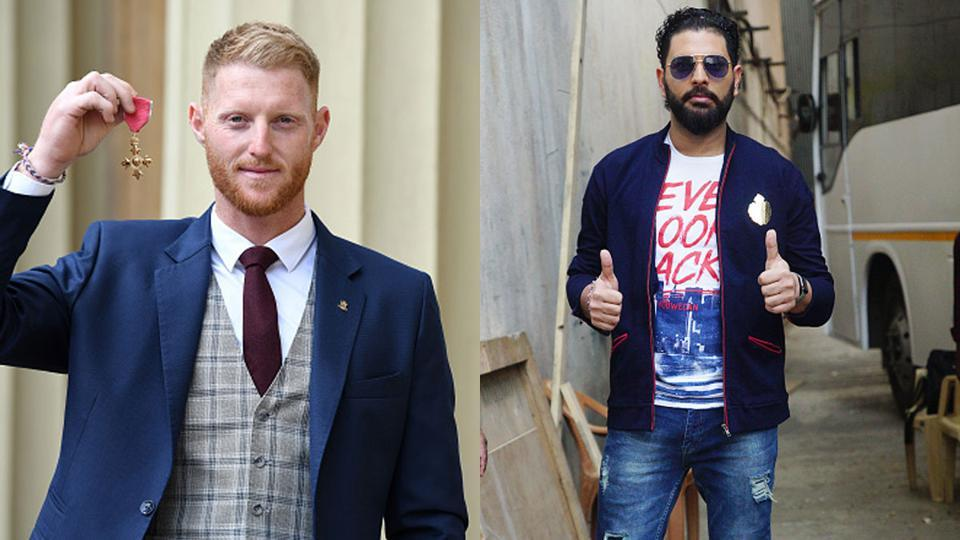 File images of Ben Stokes and Yuvraj Singh