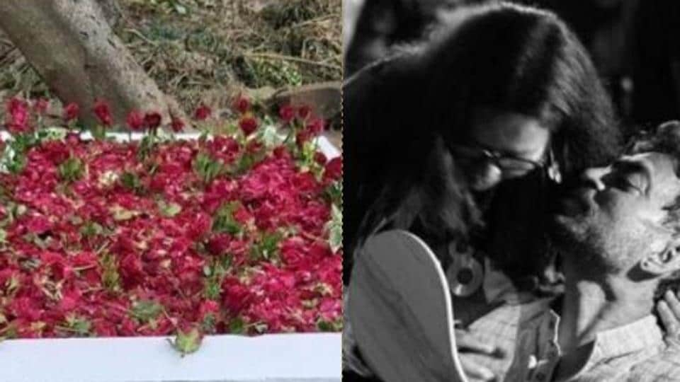 Irrfan's wife Sutapa Sikdar shared a touching poem as she posted new photos of his grave decorated with roses.