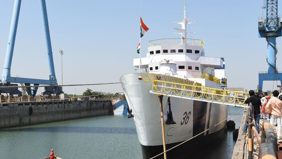 Indian Coast Guard's Cadets Training ship named