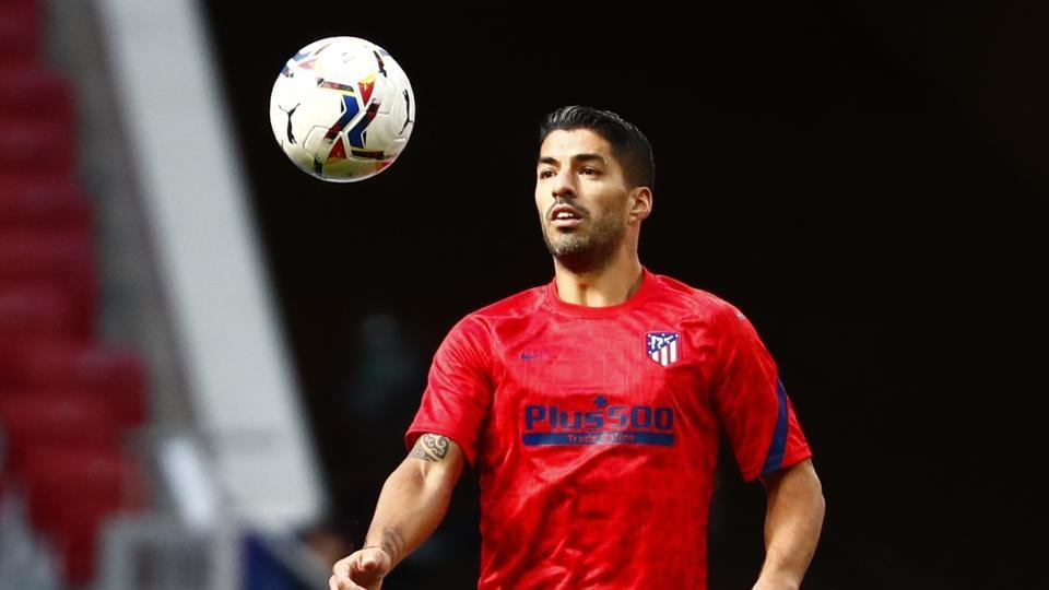 Atletico Madrid's Luis Suarez during the warm up.