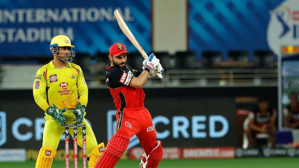 Virat Kohli hits a shot. (IPL/twitter)