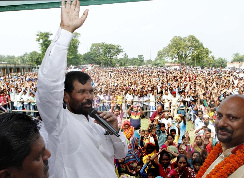 Paswan mattered due to two reasons. He symbolically represented the addition of the senior most Dalit mainstream political figure to any political coalition, and second, more substantially, Paswan had a loyal, albeit limited, base in his home state of Bihar