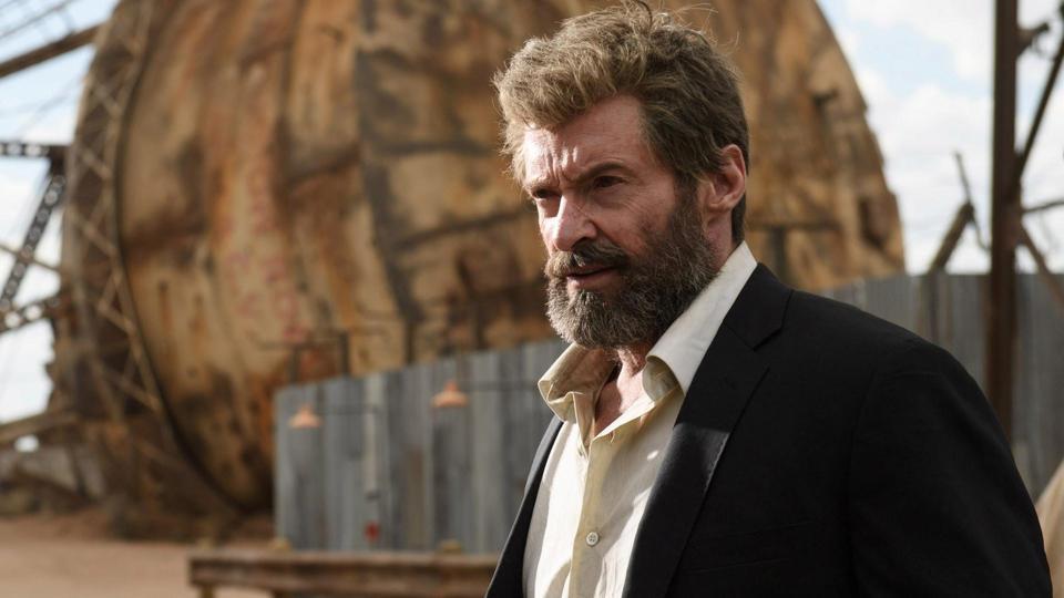 Hugh Jackman in a still from Logan.