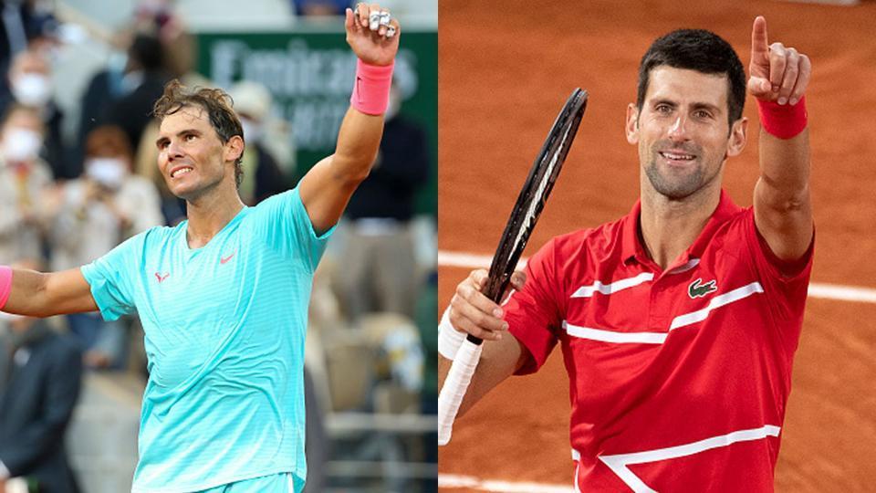 File images of Rafael Nadal (L) and Novak Djokovic.