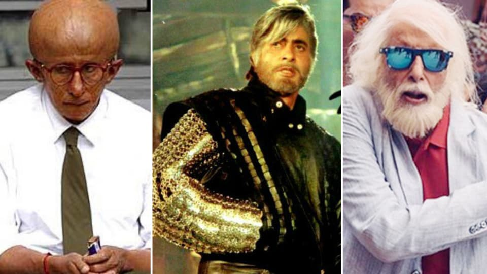 Amitabh Bachchan in Paa, Shaheshah and 102 Not Out.