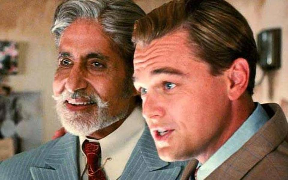 Amitabh Bachchan and Leonardo DiCaprio in The Great Gatsby. (Movie Still)