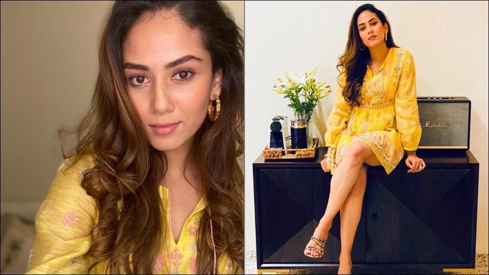 Mira Rajput makes heads turn in a chic yellow hand embroidered dress as she celebrates Indian craft and heirloom