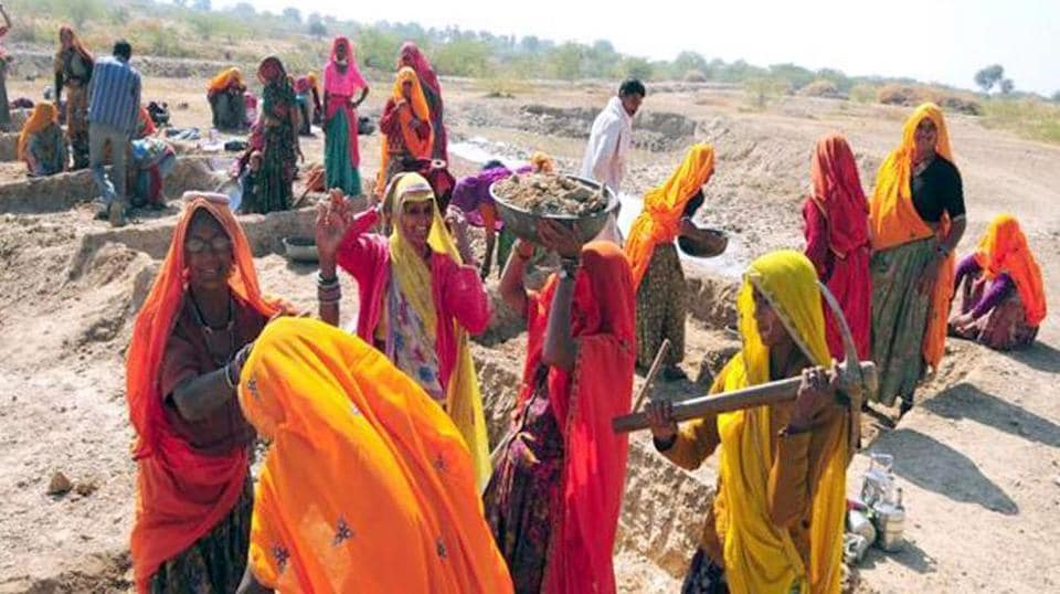 Eight big states have requested for more work allocation from the Centre under the MGNREGA, 2005.