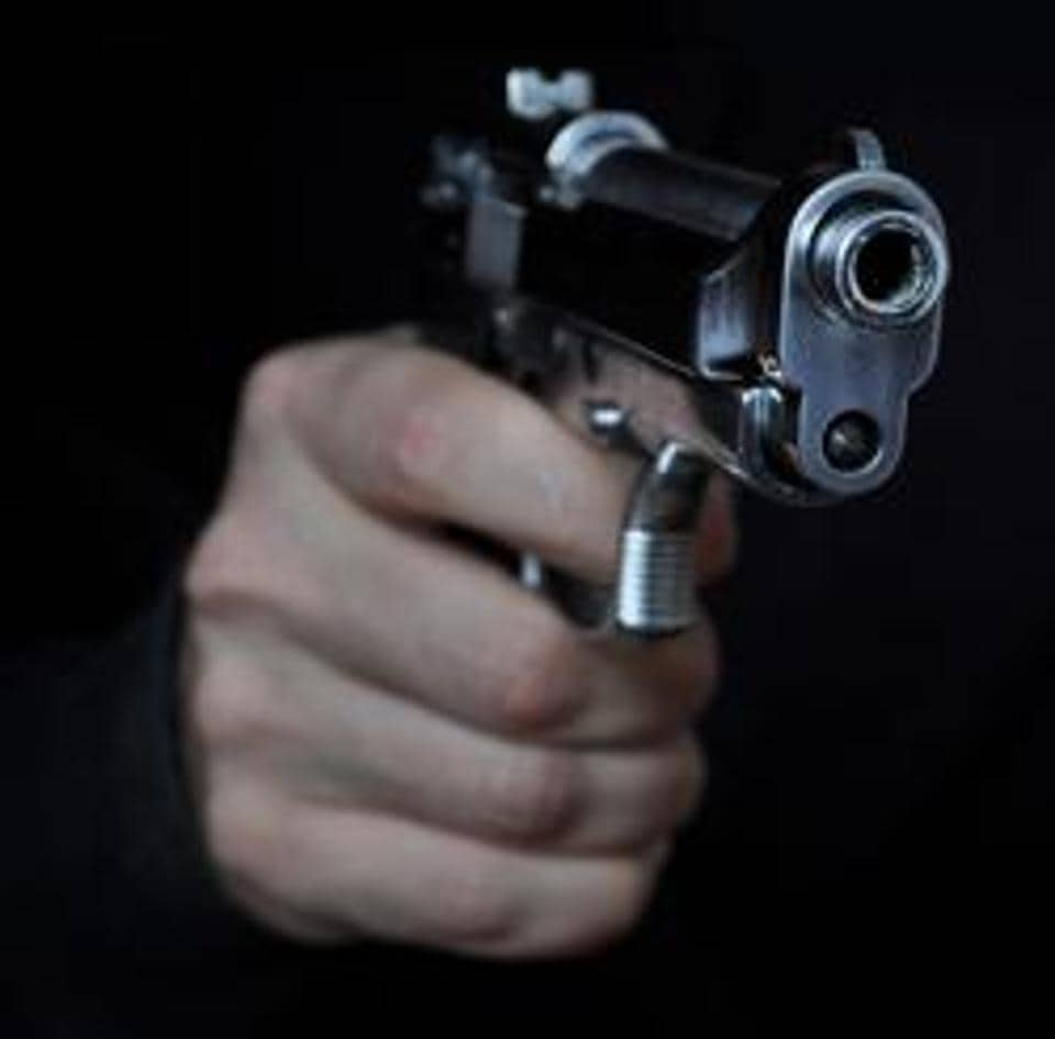 Woman gave them her chain but as the robbers were about to leave, she threw a brick at them. The enraged men then opened fire but the bullet missed the target and the mother and daughter escaped unhurt.