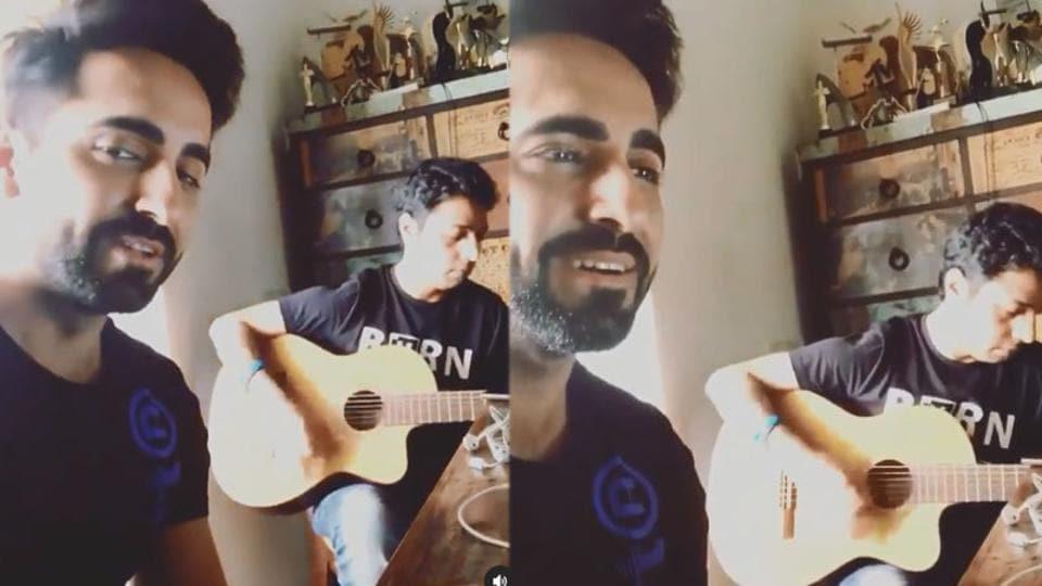 Ayushmann Khurrana has shared a throwback video.