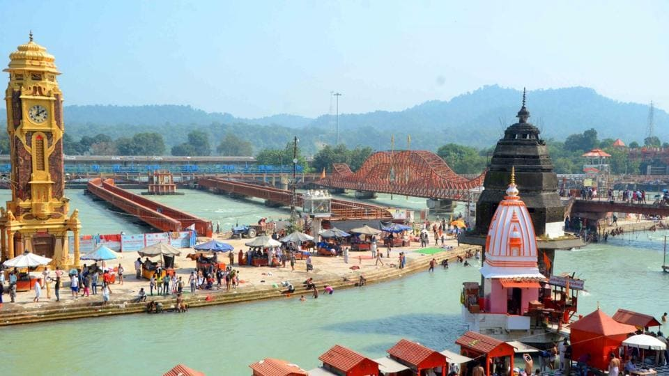 A view of Ganga canal at Har-Ki-Pauri. The canal will be closed for a month beginning October 15 midnight.