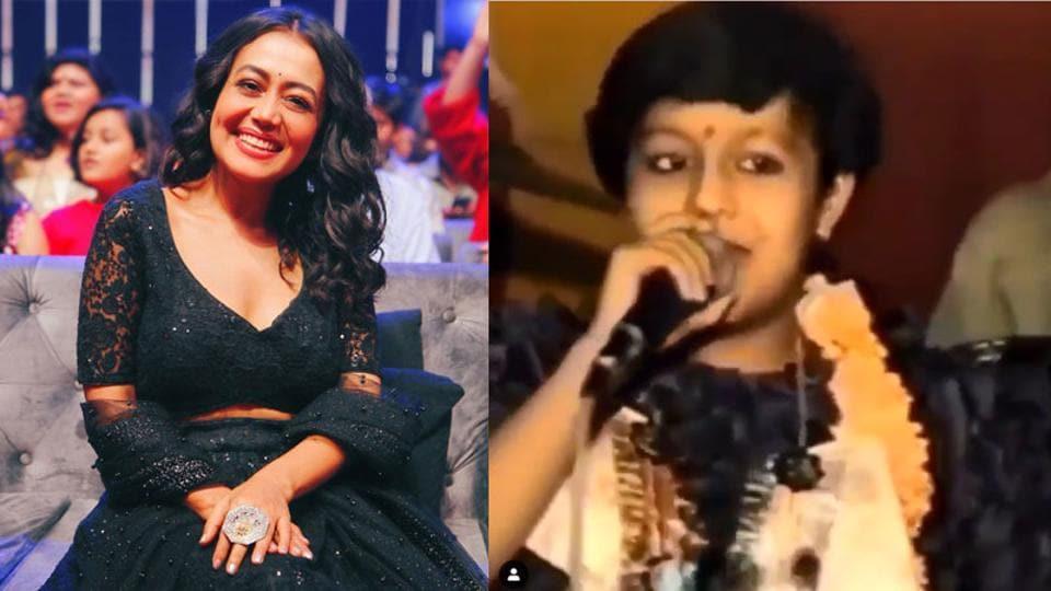 A childhood video of Neha Kakkar has surfaced online.
