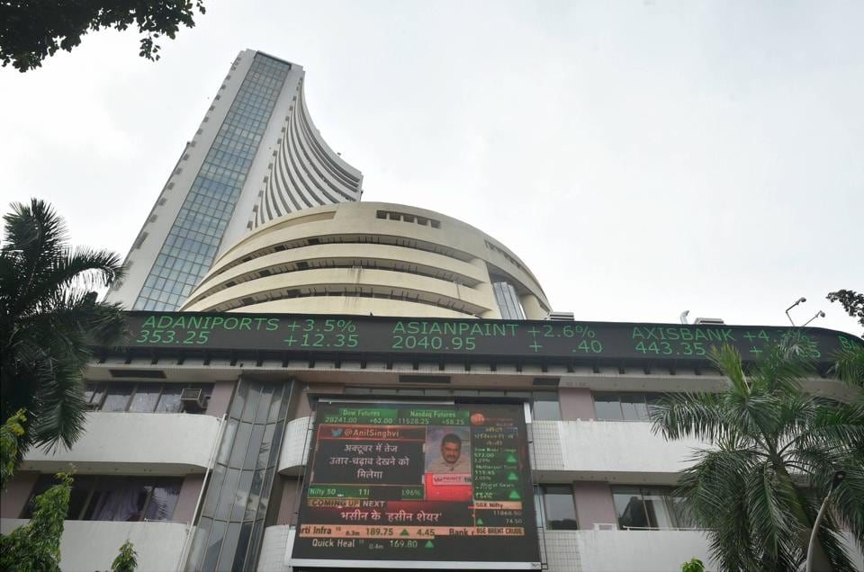 The 30-share BSE index was trading 214.94 points or 0.53 per cent lower at 40,410.57, and the broader NSE Nifty fell 77.05 points or 0.65 per cent to 11,857.45.