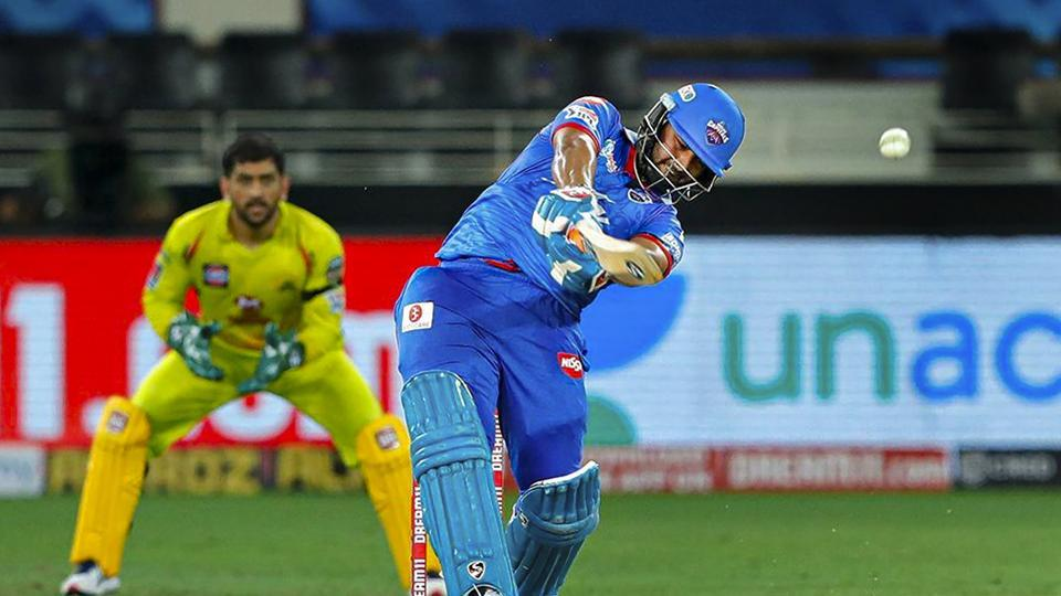 Delhi Capitals (DC) batsman Rishabh Pant plays a shot during IPL 2020 cricket match against Chennai Super Kings (CSK).