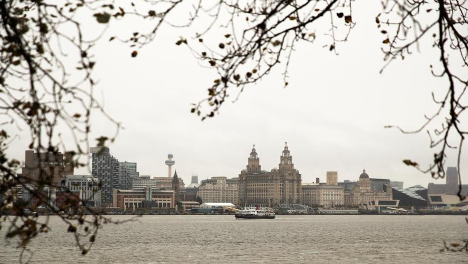A view of the Liverpool skyline along River Mersey on October 12. The UK is the worst hit in Europe by Covid-19 with the official Covid-19 death toll at 42,875. However, the measures announced on October 12 only apply to England. (Phil Noble / REUTERS)