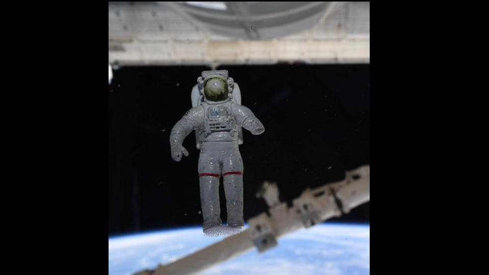 the image shows the lucky spaceman toy of astronaut Chris Cassidy.