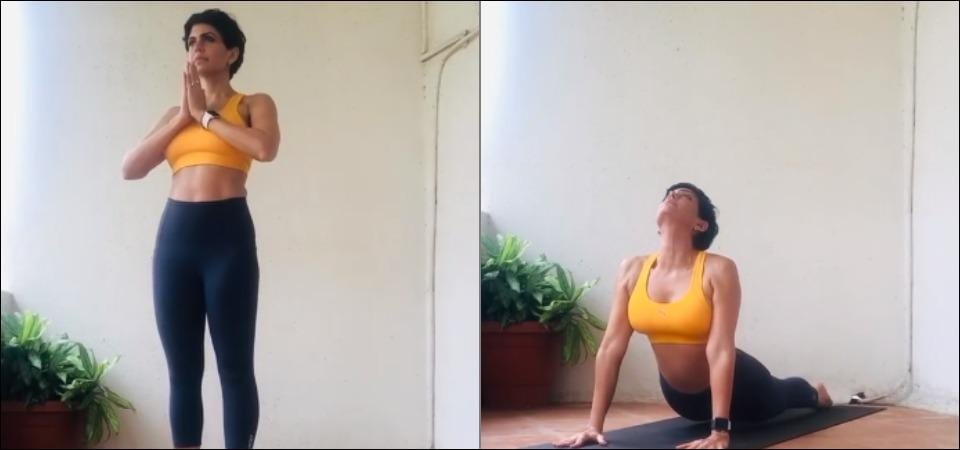 Mandira Bedi's Wednesday workout is all about acing the Surya Namaskar