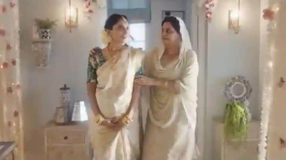 The Tanishq advertisement showed a Muslim family celebrating a traditional Hindu baby shower ceremony for their pregnant daughter-in-law.