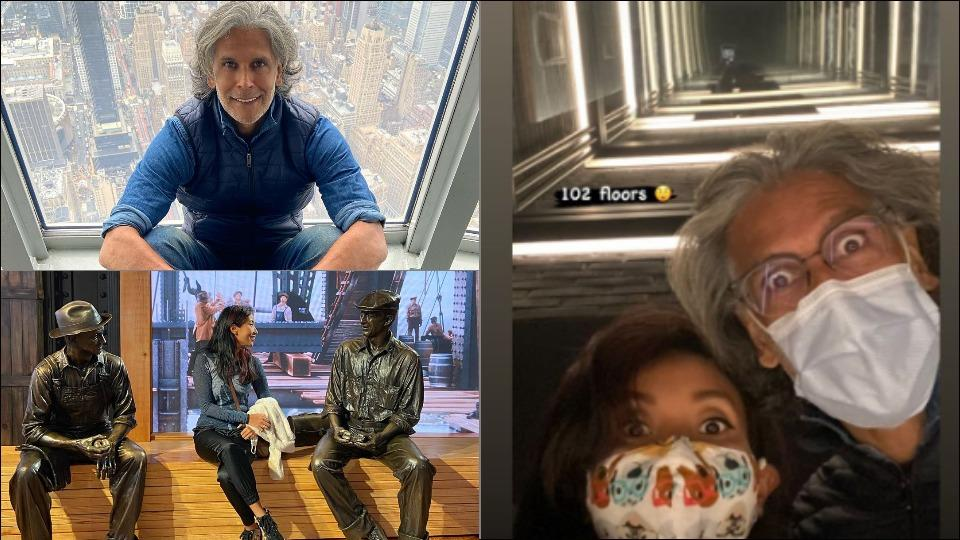 Milind Soman-Ankita Konwar take fans through a virtual tour of the New York City